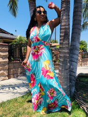 Summer Breeze Halter Maxi Dress