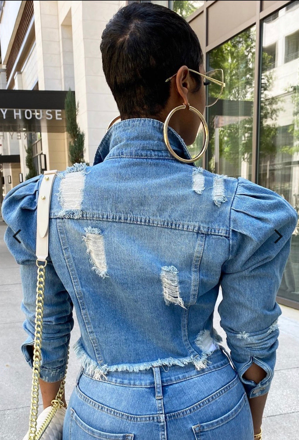 The Movement Distressed Denim Jacket