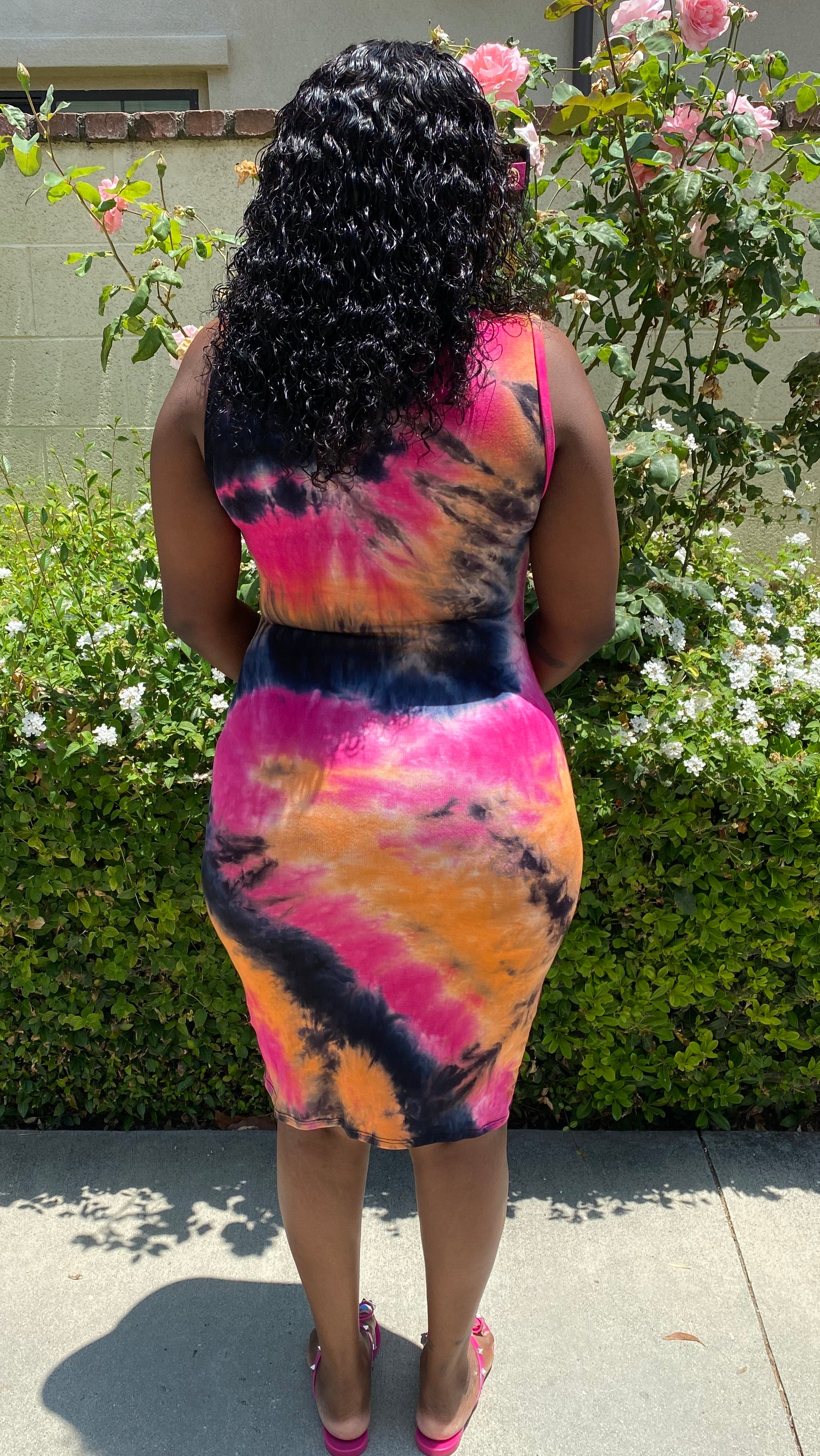 Nicole Tie Dye Midi Dress