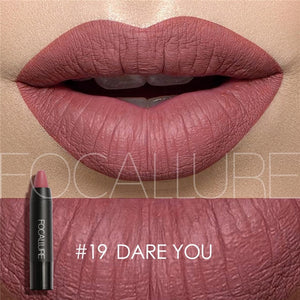 FOCALLURE 19 Colors Matte Lipsticks Waterproof Matte Lipstick Lip Sticks Cosmetic Easy to Wear Lipstick Matte Batom Makeup lips