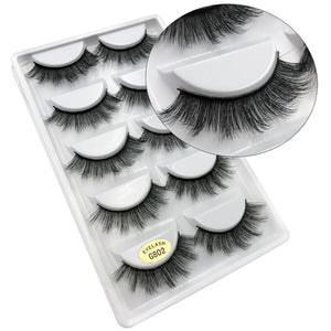 SHIDISHANGPIN 1 box mink eyelashes natural long 3d mink lashes hand made false lashes plastic cotton stalk makeup false eyelash