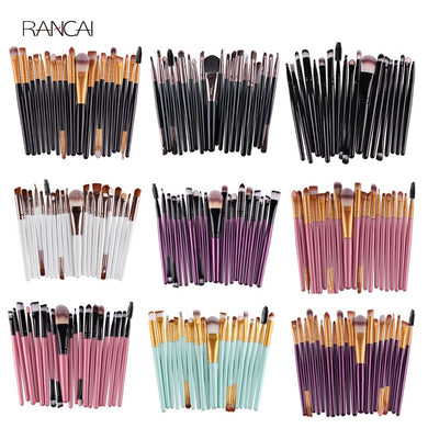 20pcs Eye Makeup Brushes Set Eyeshadow Eyebrow Eyelashes Eyeliner Lip Brush Sponge Smudge Brush Cosmetic Tool Pincel Maquiagem