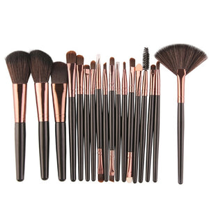 Professional 18Pcs Cosmetic Makeup Brushes Foundation Eyeshadow Blush Blending Brush Fan Kit Pincel Powder Makeup Set 11.11