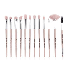 Anmor Pro Makeup Brushes Set 12 pcs/lot Eye Shadow Blending Eyeliner Eyelash Eyebrow Brushes For Makeup