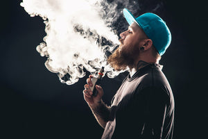 Man smoking an e-cigarette