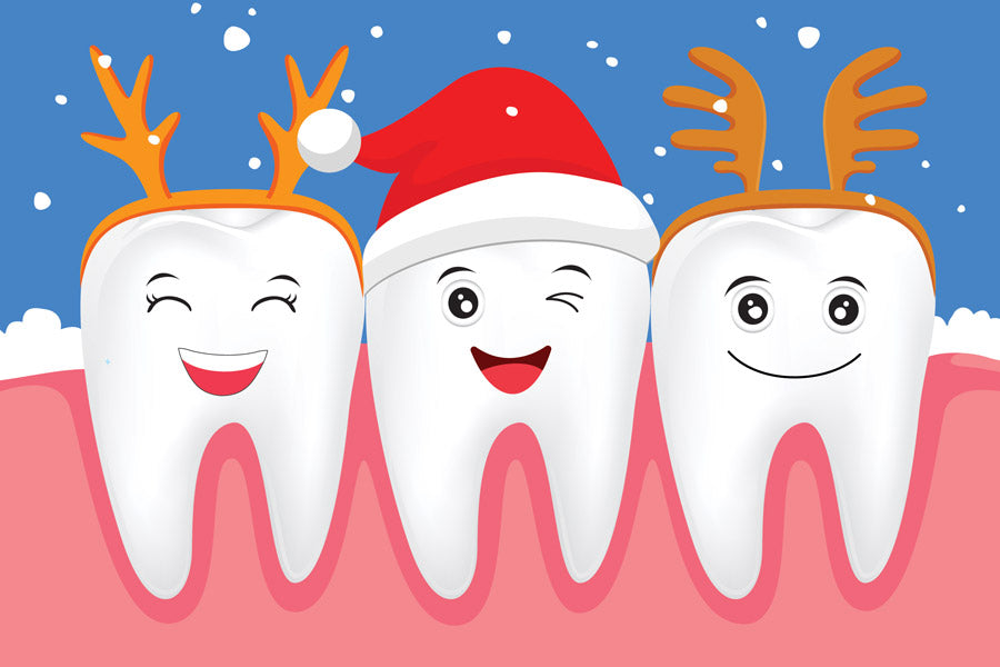 Christmas teeth cartoon