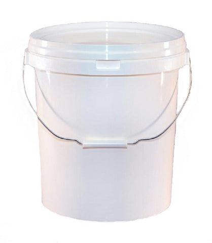 20 Litre White Valeters Pail With Lid Including a Bucket Barrier Valet Car Cleaning - New Image Car Care Limited