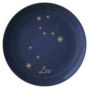 "Leo Constellation Zodiac Astrology Night Sky 10"" Plate"