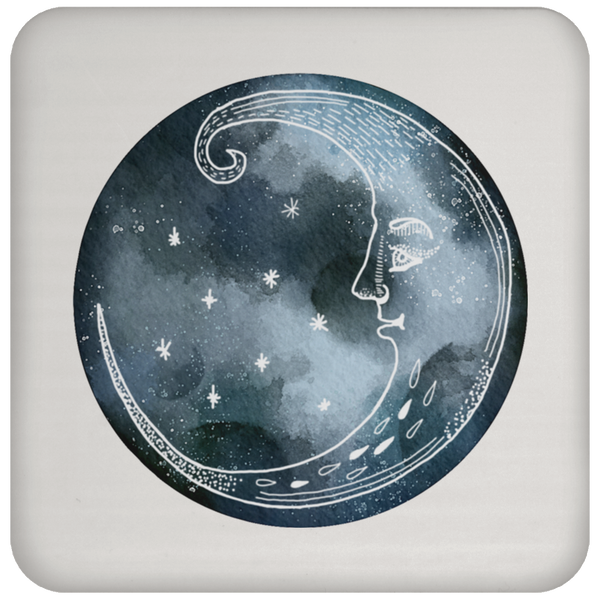 Moon and Stars Night Sky Drink Coaster