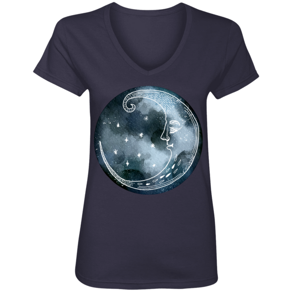 Moon and Stars Night Sky Ladies Shirts