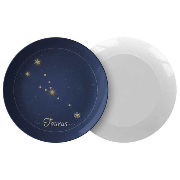 "Taurus Constellation Zodiac Astrology Night Sky 10"" Plate"