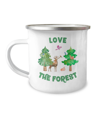 Love the Forest Camper Camp Mug Trees Animals