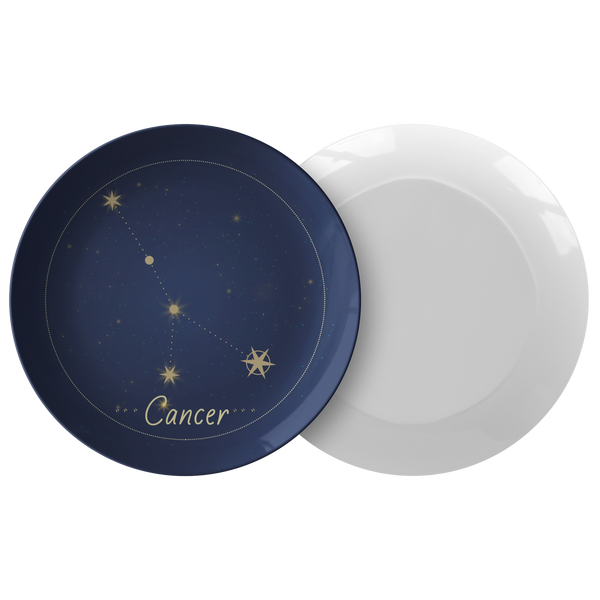 Cancer Constellation Zodiac Astrology Night Sky Plate 10""