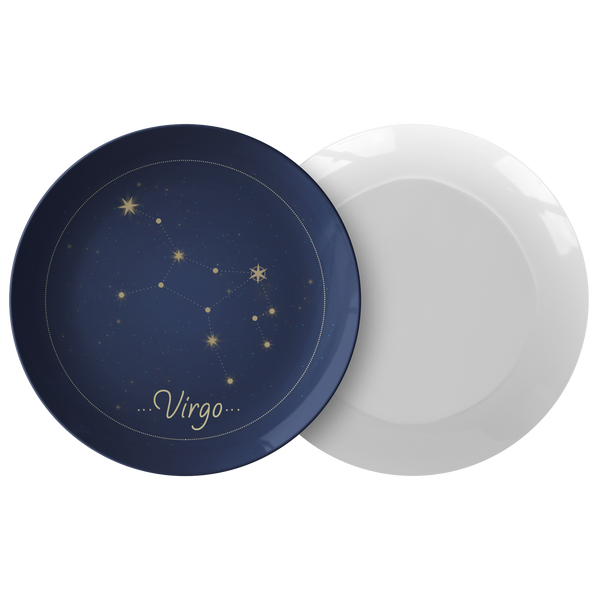 "Virgo Constellation Zodiac Astrology Night Sky 10"" Plate"