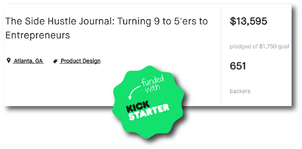 the side hustle journal kickstarter