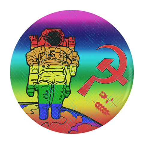 Gay Space Communism Button