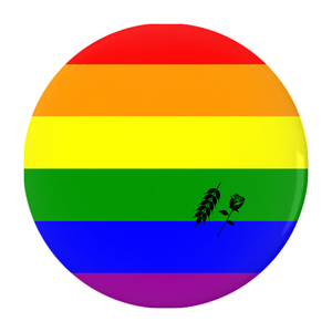 lgbtq+ pride button