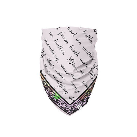 Bread and Roses Poem Bandana - Bread and Roses Apparel