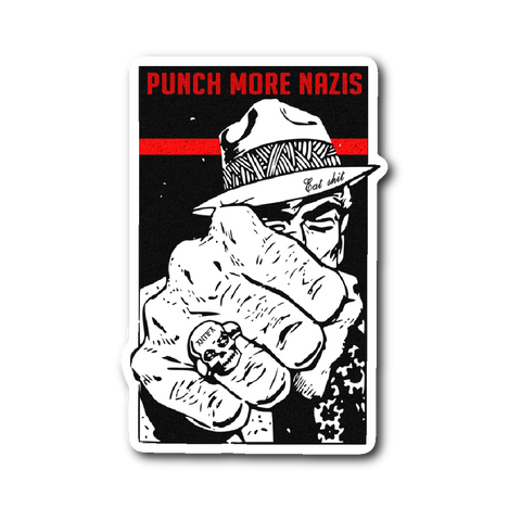 Punch More Nazis Sticker