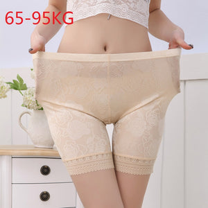 New Ice Silk Lace  Middle Waist Short Leggings for Women