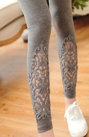 Summer Lady cotton Lace  leggings