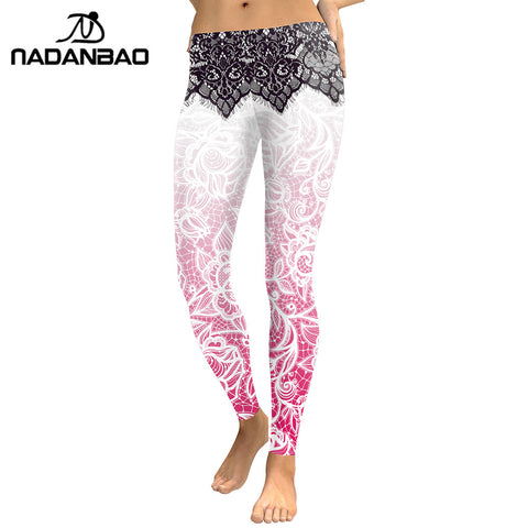 Modern  Women Leggings Mandala Flower