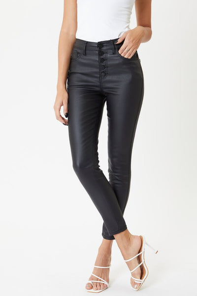 Rita High Rise Faux Leather Skinny Jeans