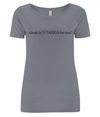 Women's Open Neck T-Shirt What is TARKA for you-