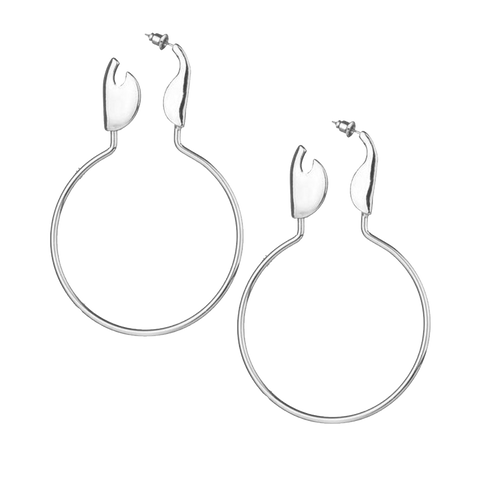 Safety Pin Hoop Earring