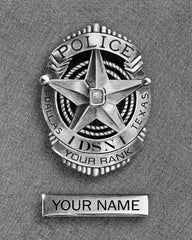Dallas Police Department personalized badge print now available