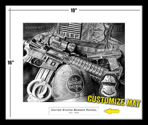 US Border Patrol custom artwork by Lucks Art 911