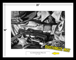 Illinois State Police custom artwork by Lucks Art 911