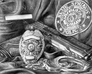 Blue Springs Police Department custom artwork by Signia Artwork