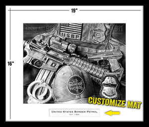 U.S. Border Patrol custom artwork by Lucks Art 911