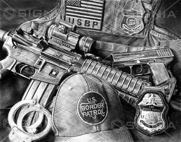 U.S. Border Patrol custom artwork by Signia Artwork