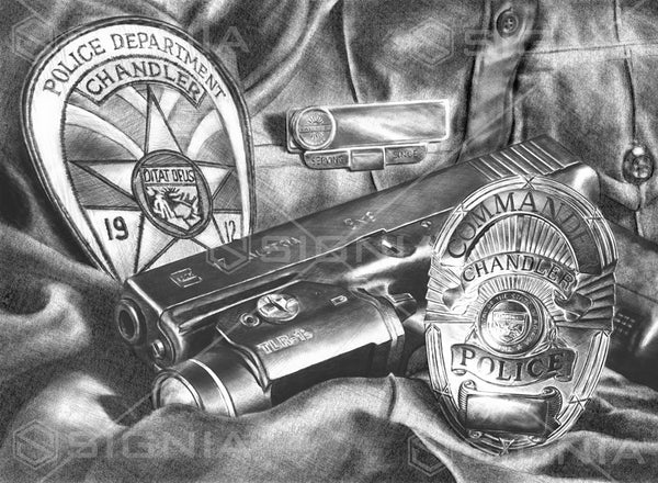 Chandler Police Department custom artwork by Signia Artwork