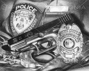 Chesterfield Police Department custom artwork by Signia Artwork
