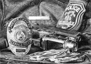 Glendale Police Department custom artwork by Signia Artwork
