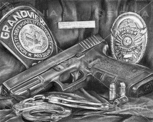 Grandview Police Department custom artwork by Signia Artwork