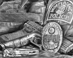 Independence Police Department custom artwork by Signia Artwork