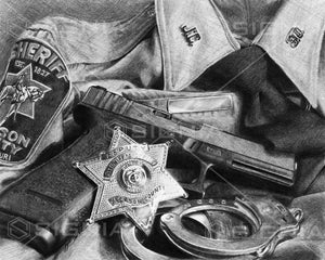 Jackson County Sheriff's Office custom artwork by Signia Artwork