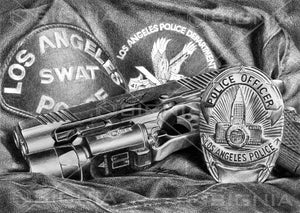 Los Angeles Police Department SWAT custom artwork by Signia Artwork
