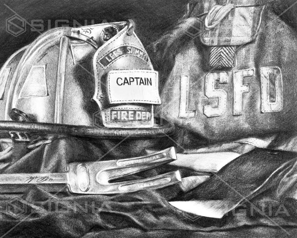 Lee's Summit Fire Department custom artwork by Signia Artwork