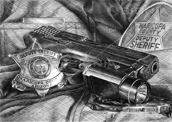 Maricopa County Sheriff's Office custom police artwork by Lucks Art 911