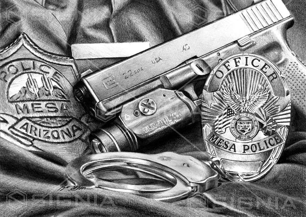 Mesa Police Department custom artwork by Signia Artwork