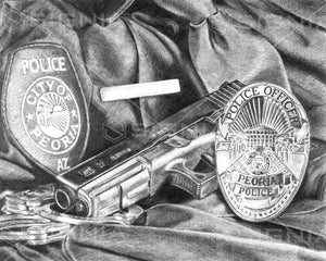 Peoria Police Department custom artwork by Signia Artwork