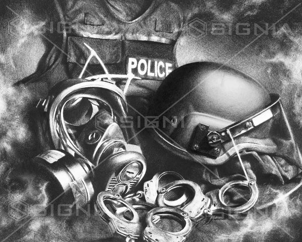 Riot Gear custom artwork by Signia Artwork