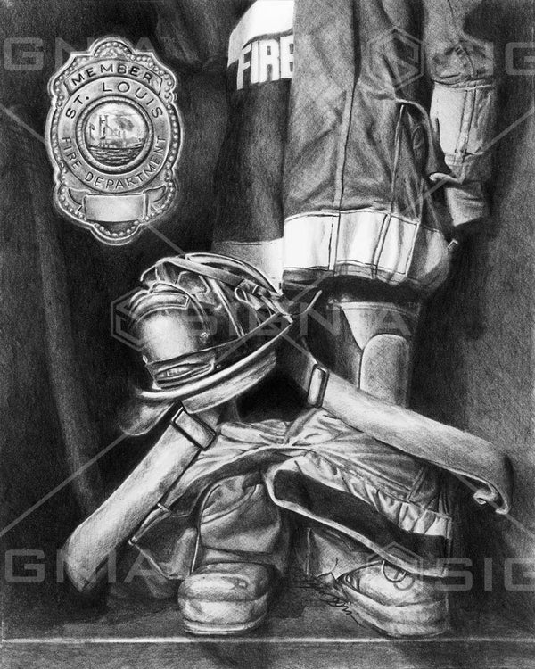 Saint Louis City Fire Department custom artwork by Signia Artwork