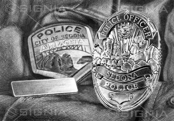 Sedona Independence Police Department custom artwork by Signia Artwork