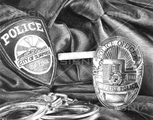 Surprise Police Department custom artwork by Signia Artwork